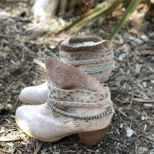 Shoes - NOT RATED • Crochet Lace Booties